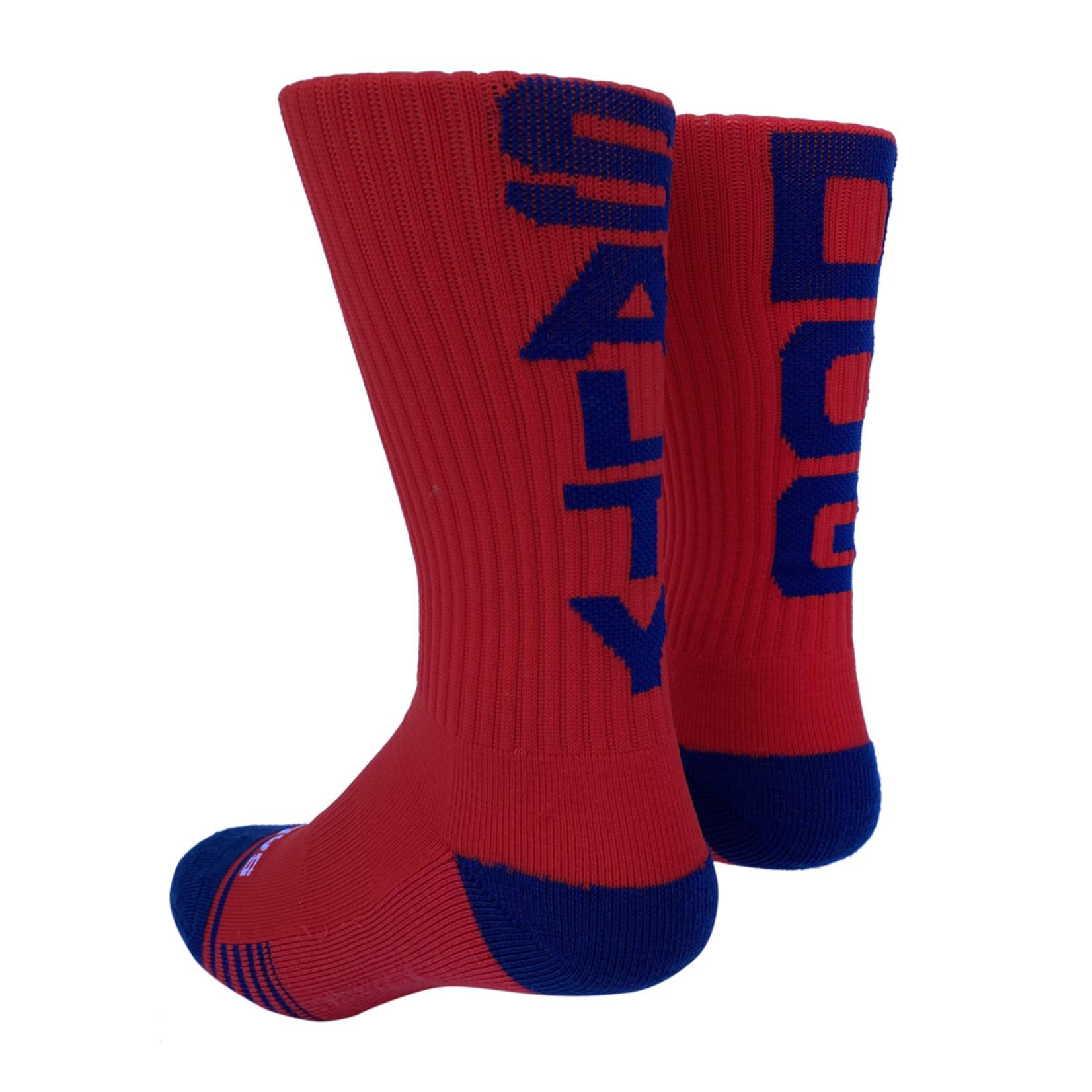 Socks-Salty Dog, Red/Navy