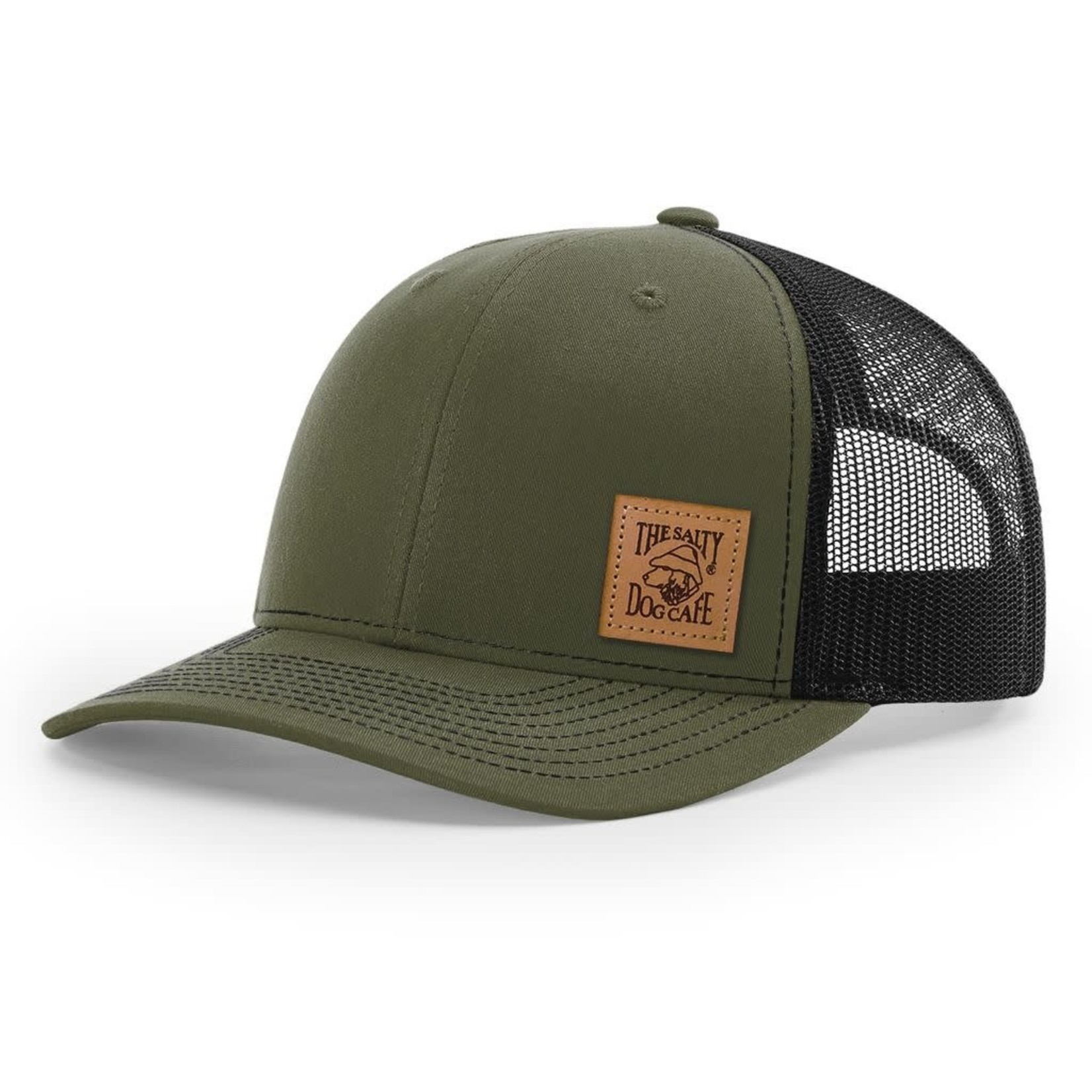 Trucker - Leather Patch, Loden/Black, Adult