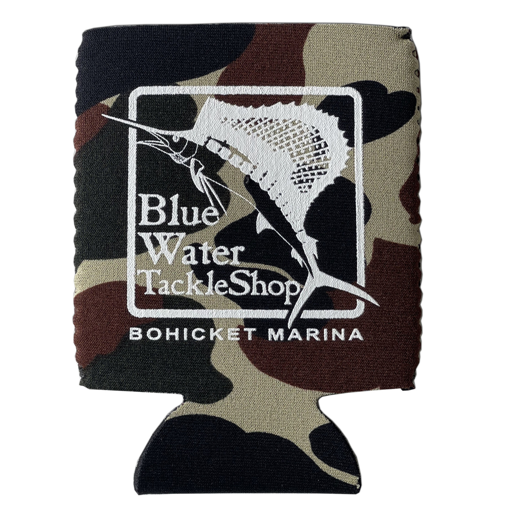 Blue Water Bohicket Can Holder, Camo