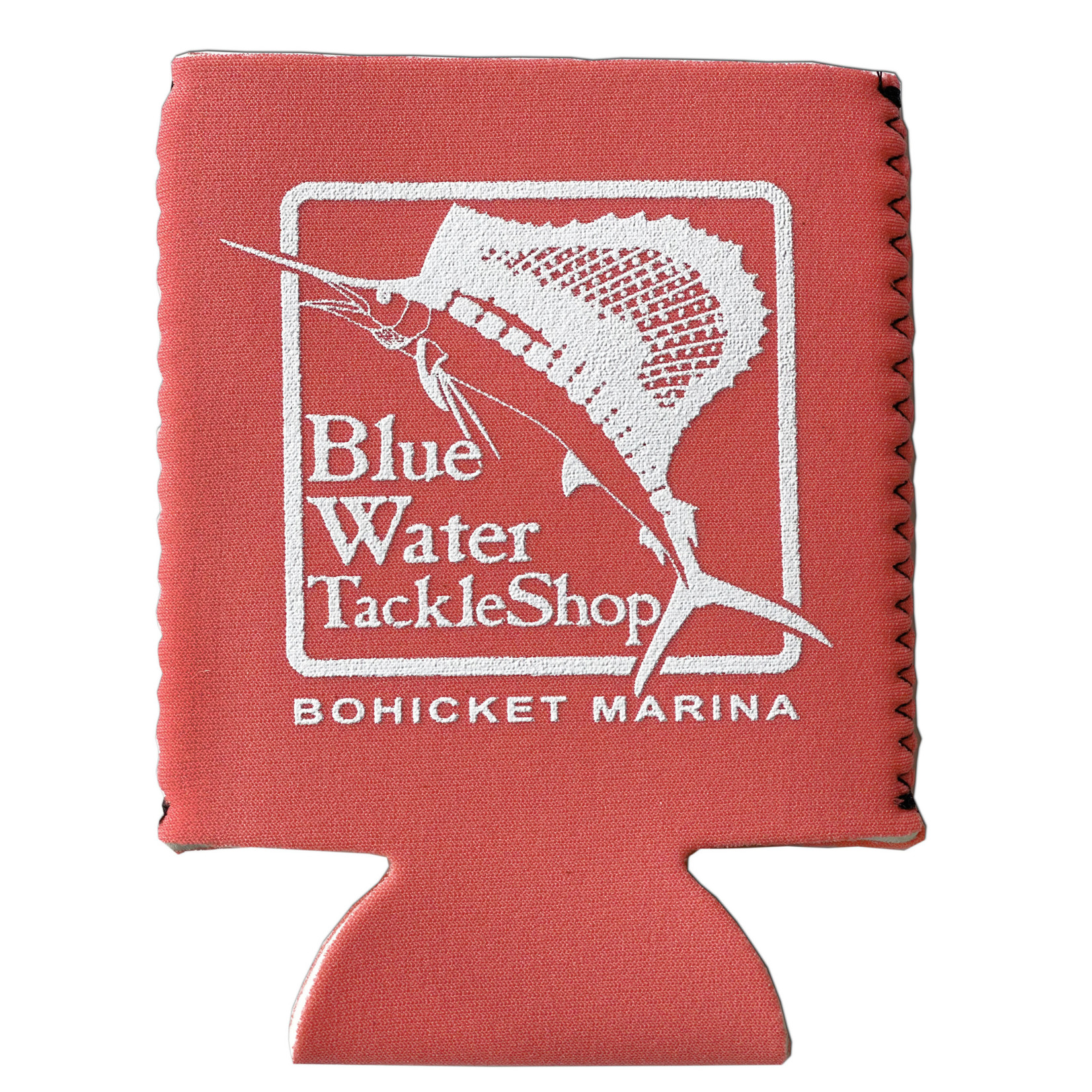 Blue Water Bohicket Can Holder, Coral