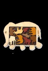 PUZZ Animal Packing Puzzle: Elephant Parade