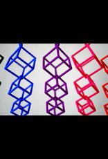 JEWE 3D Printed Interlocking Cube Earrings   Hanusa Design