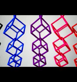 JEWE 3D Printed Interlocking Cube Earrings | Hanusa Design