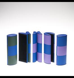 HOME Green/Blue/Lavender Rollover Case - Medium size