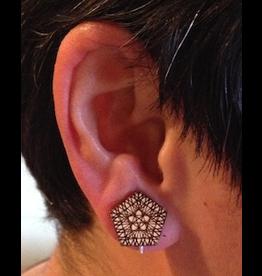 JEWE Math is Beautiful Wooden Stud Earrings