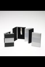 HOME Rollover Business Card Case - Black/Silver/Silver