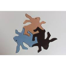 HOME Rabbit Magnets (Set of 3)