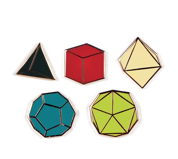 JEWE Platonic Solid Pins