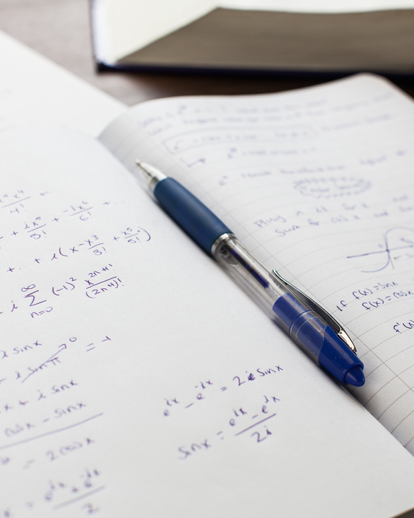 BODV Mathematics Hardcover Notebook - Lined Paper