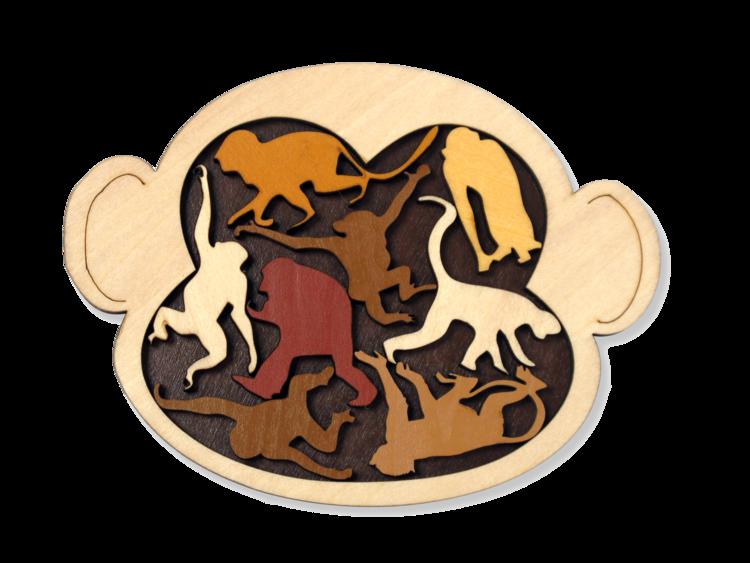 PUZZ Animal Packing Puzzle: Monkey Madness