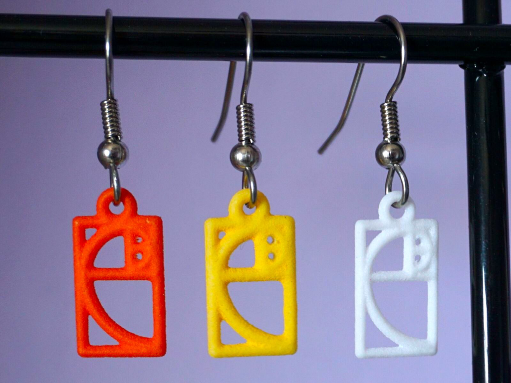 JEWE 3D Printed Tiny Golden Ratio Earrings | Hanusa Design