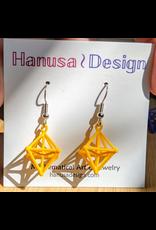 JEWE 3D Printed Hyperoctohedron Earrings | Hanusa Design