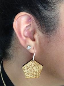 JEWE Math is Beautiful Wooden Dangle Earrings