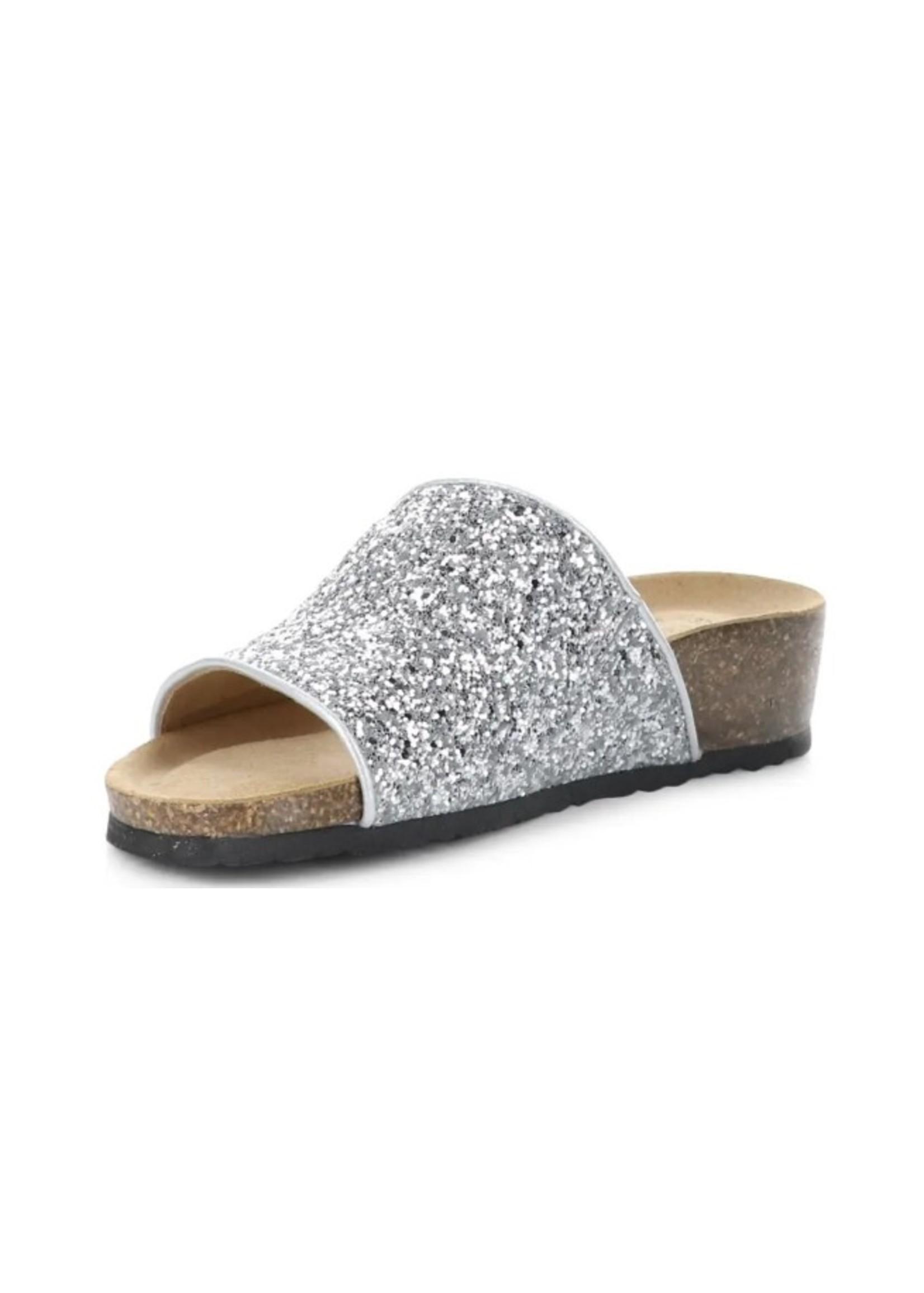 Bos & Co. Glux Bling Slide Sandals