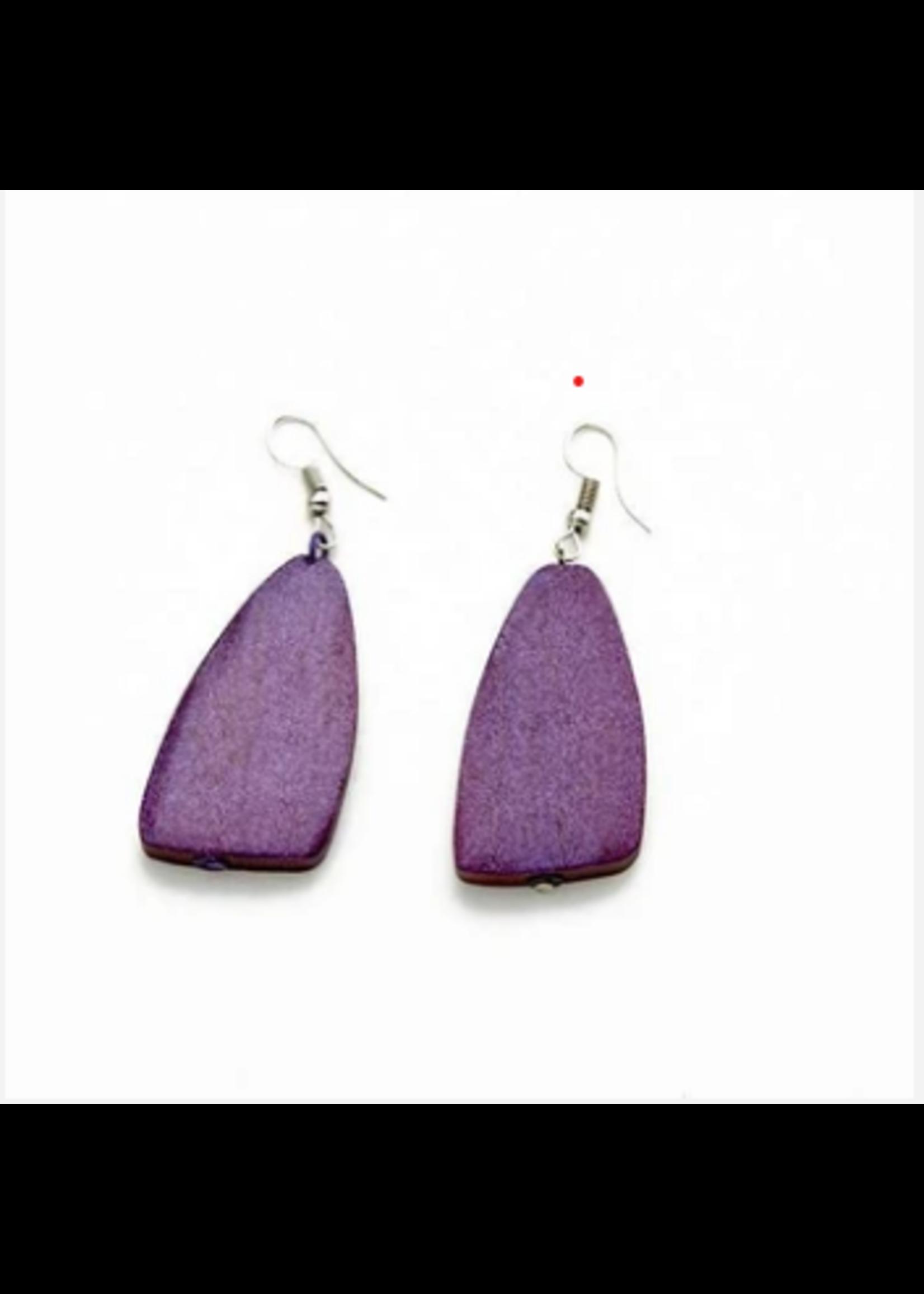 Suzie Blue Long Wooden Earrings | Suzie Blue