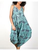Suzie Blue Mint Palm Leaf Romper