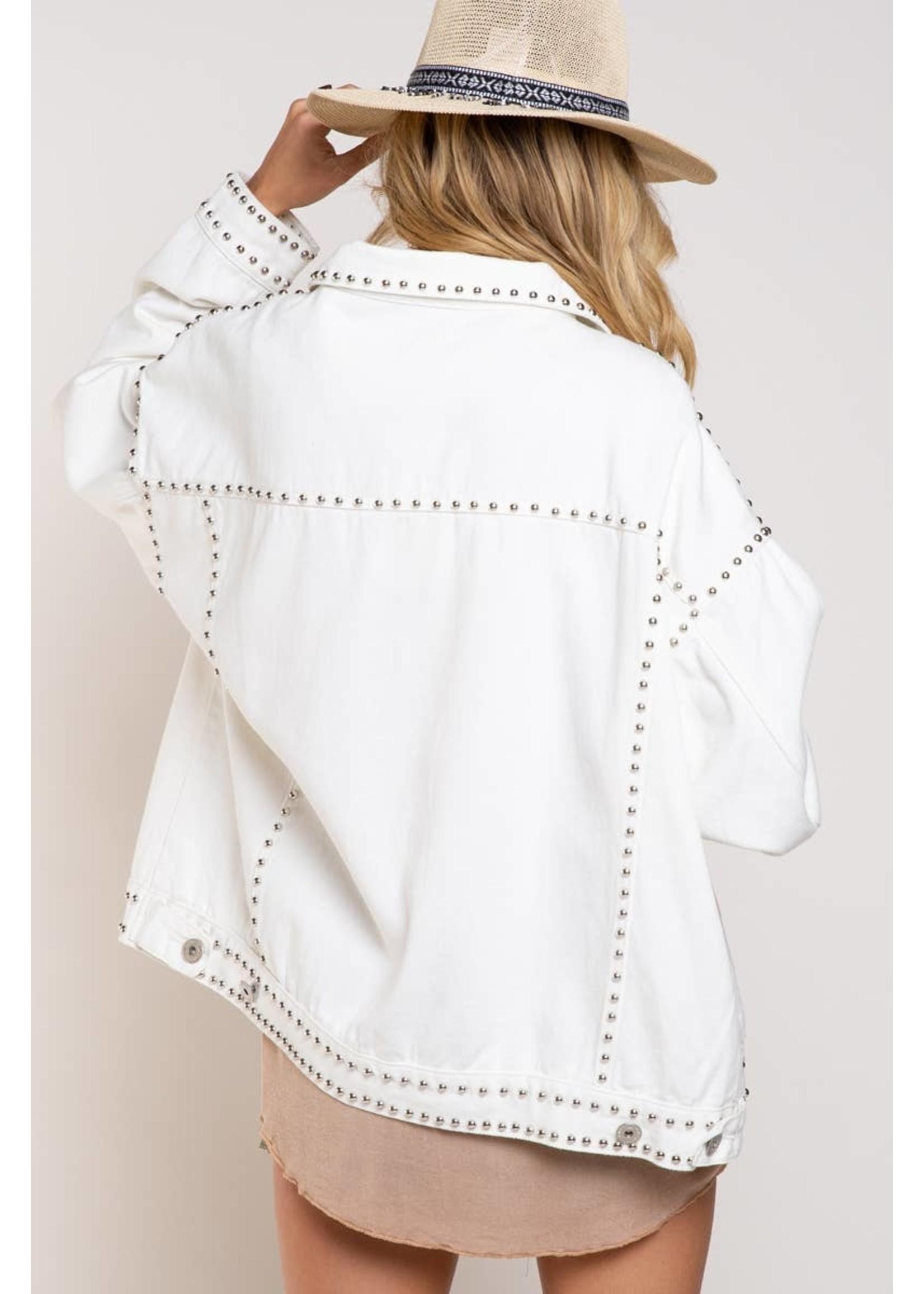 POL Embellished Jean Jacket