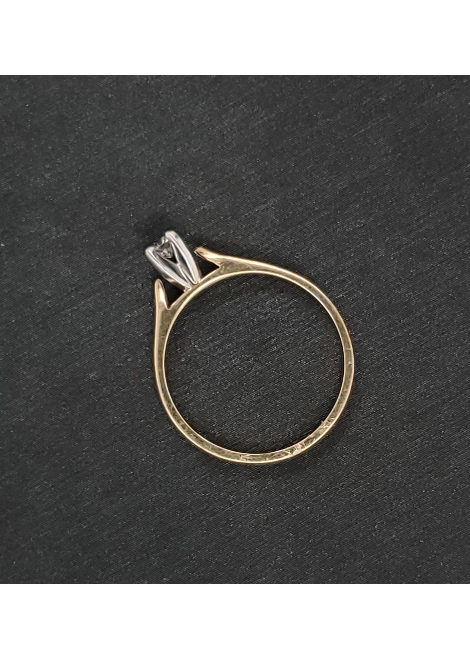 Vintage Jewellery Vintage Solitaire   Sz 6 2mm Diam I1 , K-L