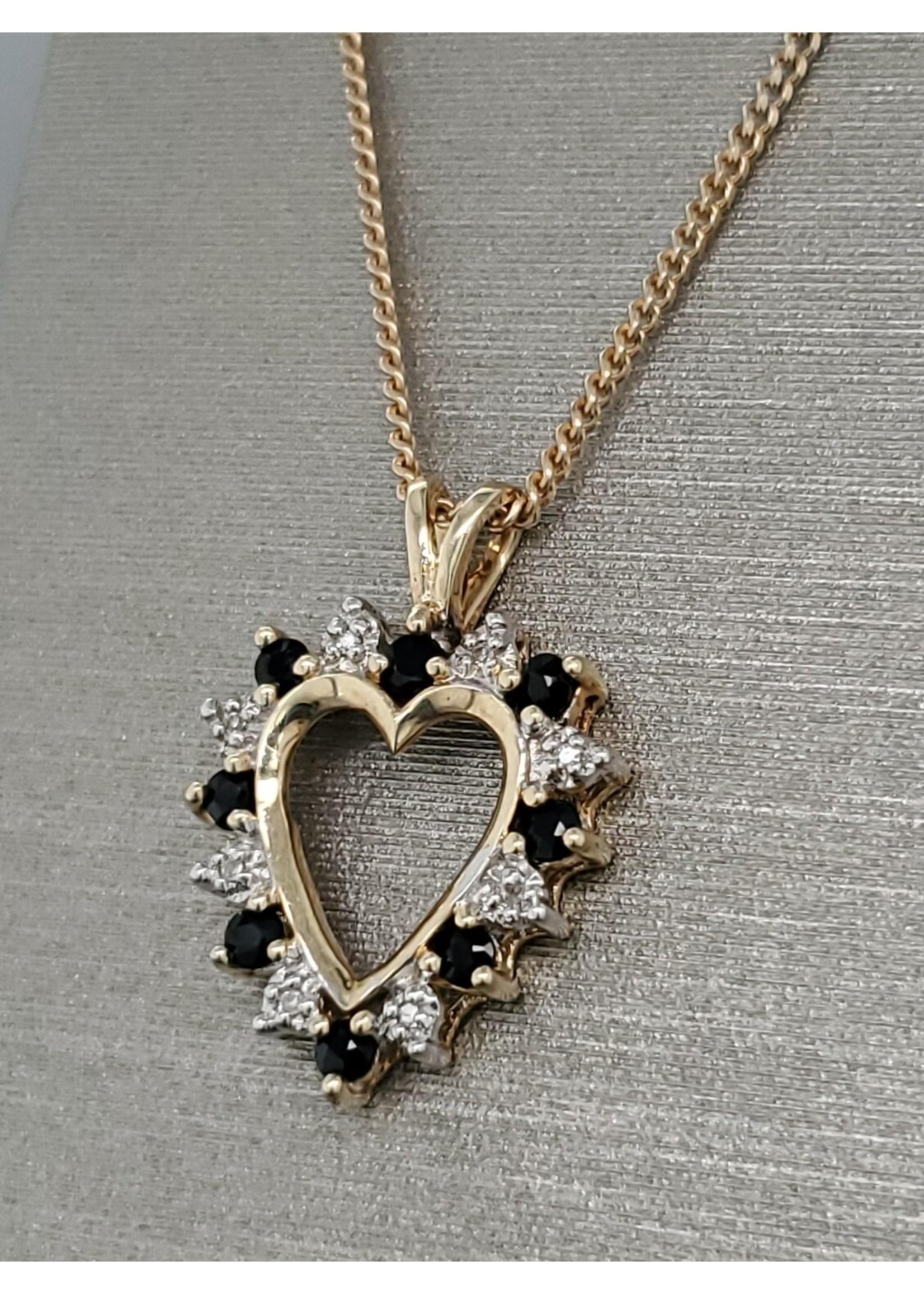 Vintage Jewellery Vintage 10k Heart Pendant | 22mmx16mm