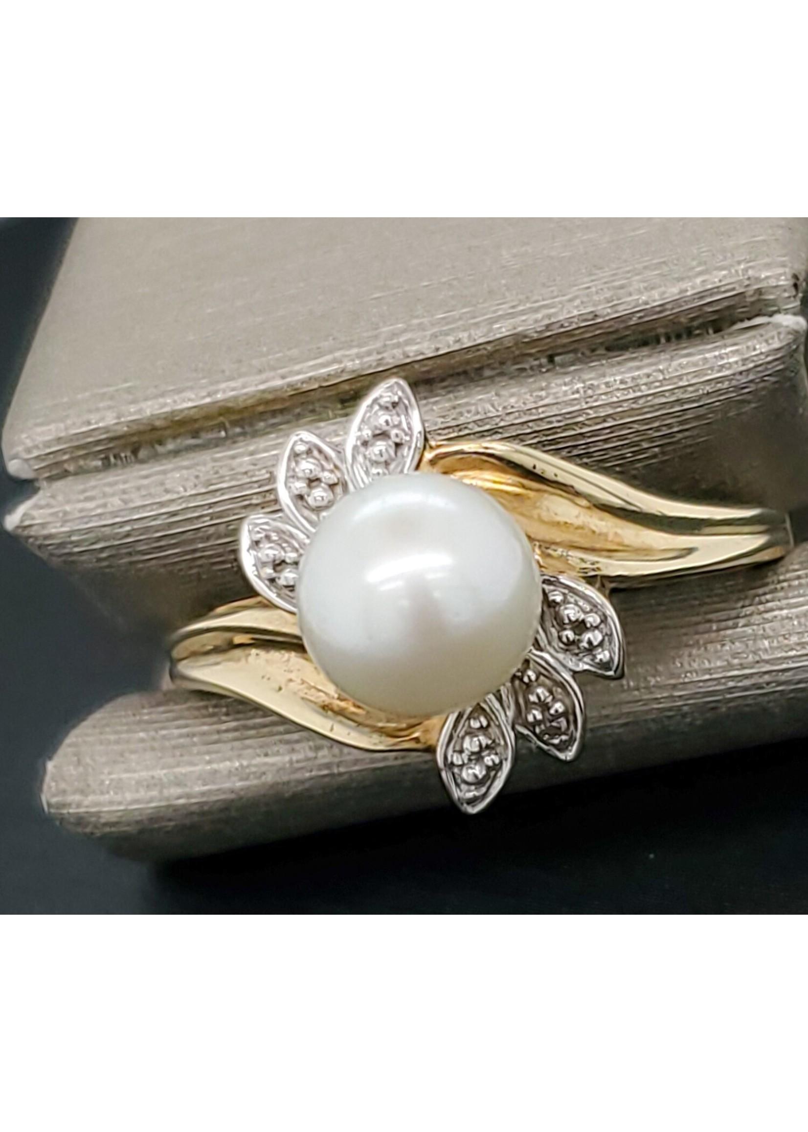 Vintage Jewellery Vintage 10k Pearl Ring | Sz 7 1.37mm Band