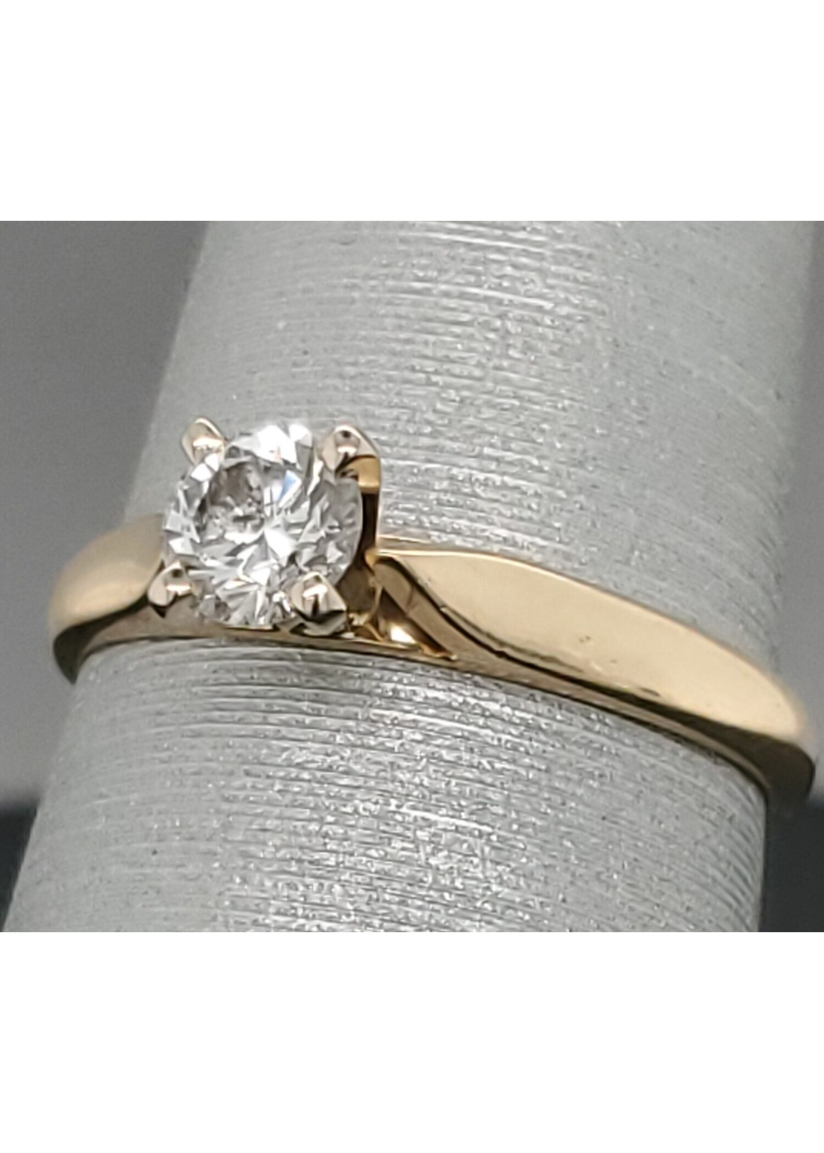 Vintage Jewellery Vintage 14k Solitaire Ring | Sz 6.25 1.8mm band