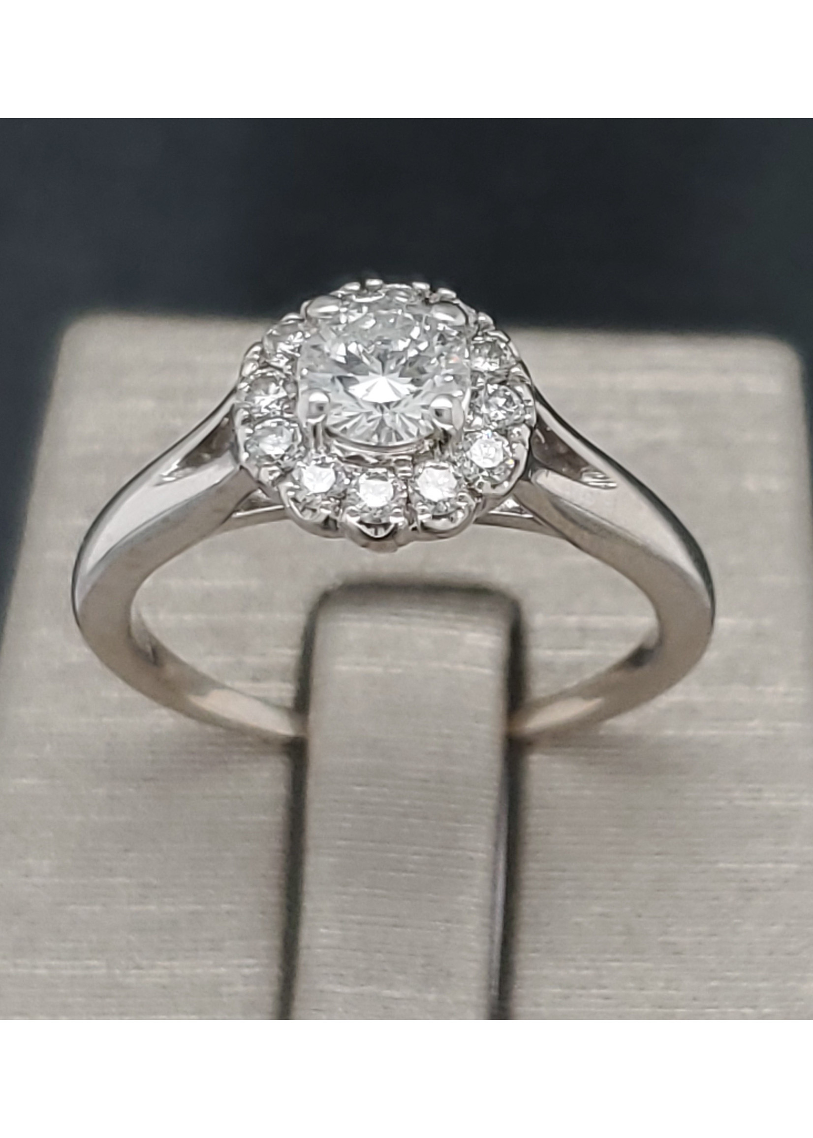 Vintage Jewellery Vintage 14k Halo Ring | Sz 7.25 1mm Band