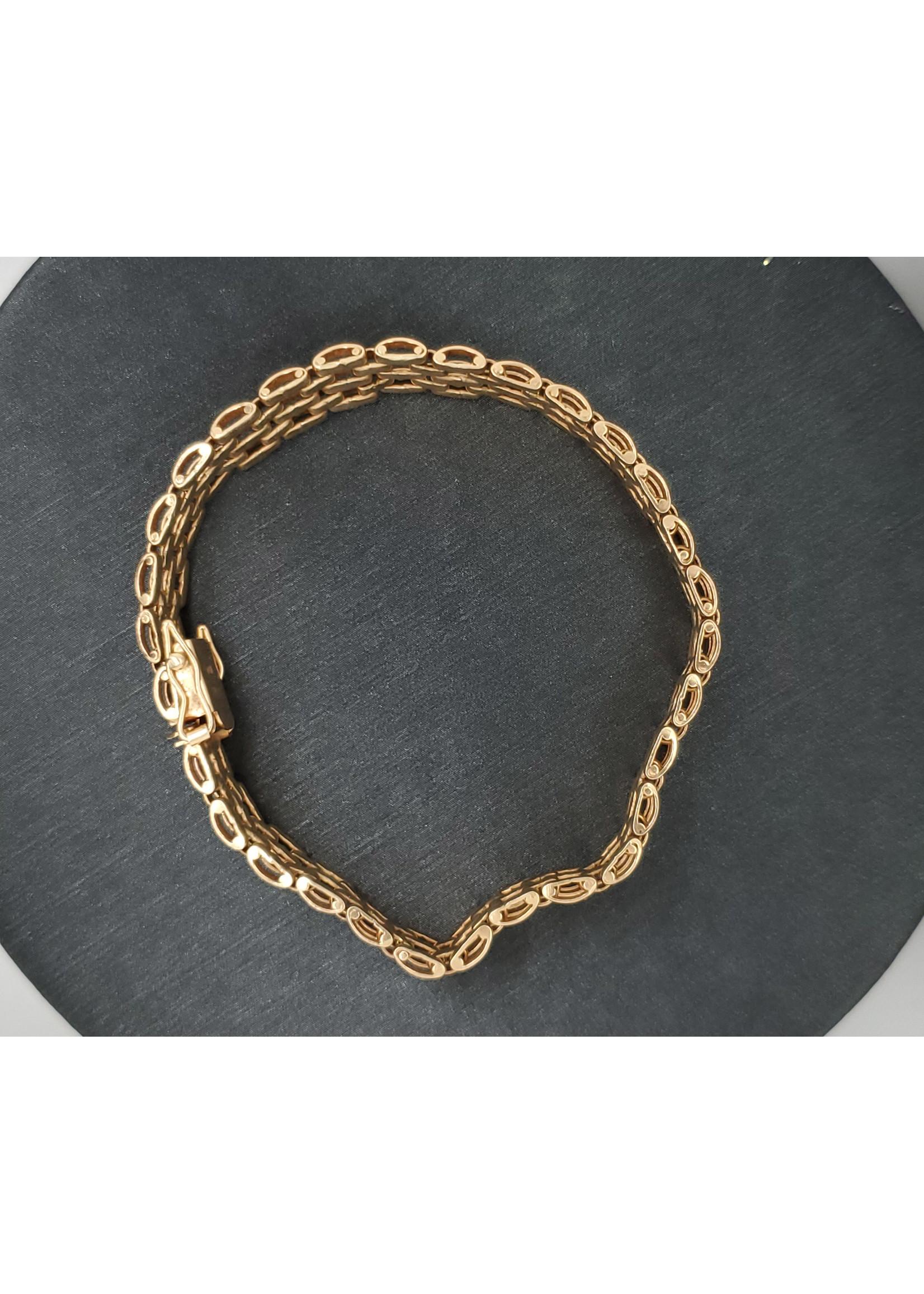 """Vintage Jewellery Vintage Link Bracelet   7"""" 10mm wide"""
