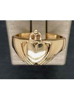 Vintage Jewellery Vintage 10k Men's Claddagh Ring | YG Size 11.5