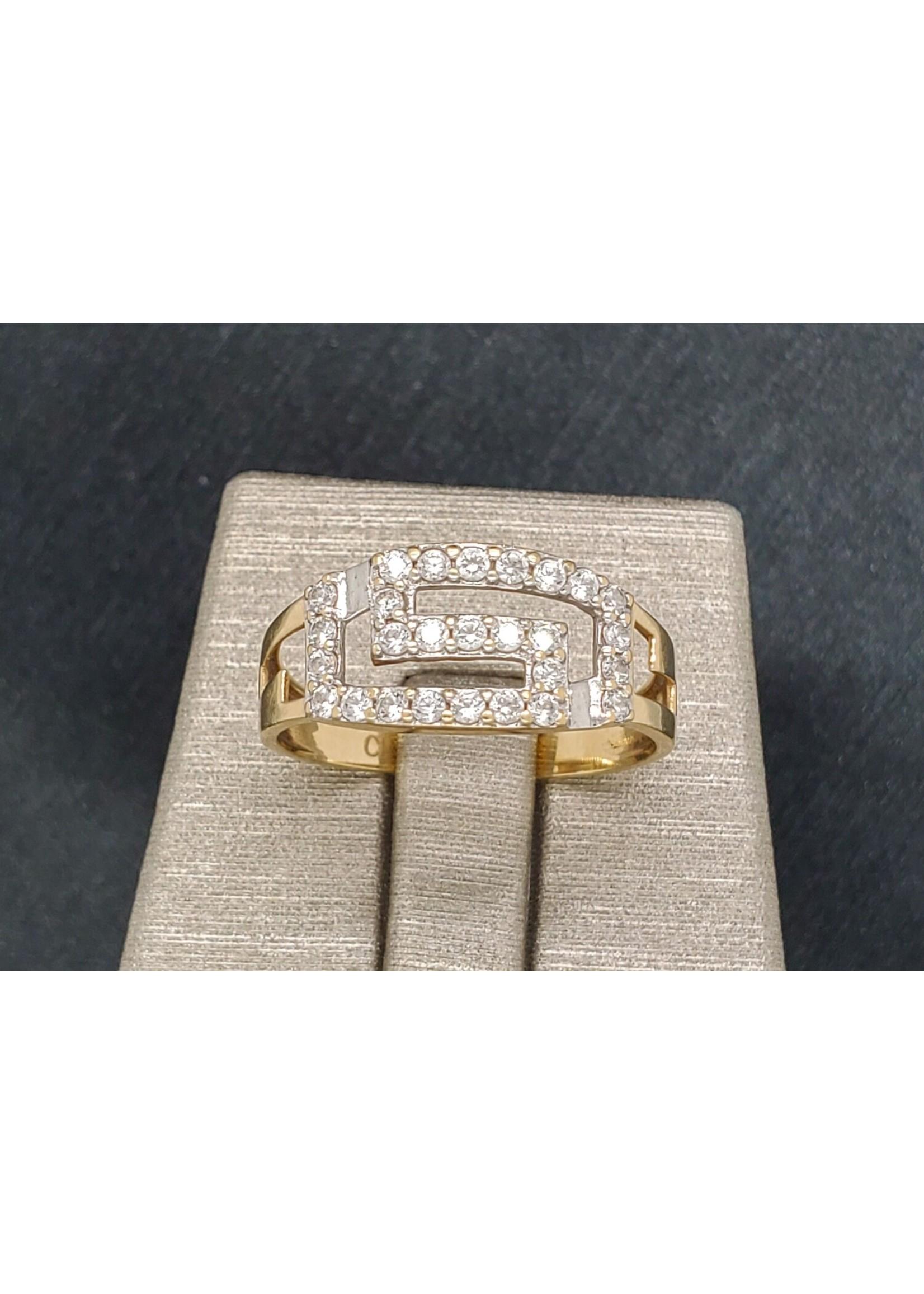 Vintage Jewellery Vintage 10k Greek Diamond Ring | Size 7.5 YG