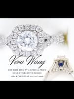 Vintage Jewellery Vintage Vera Wang Diamond Sapphire Engagement Ring