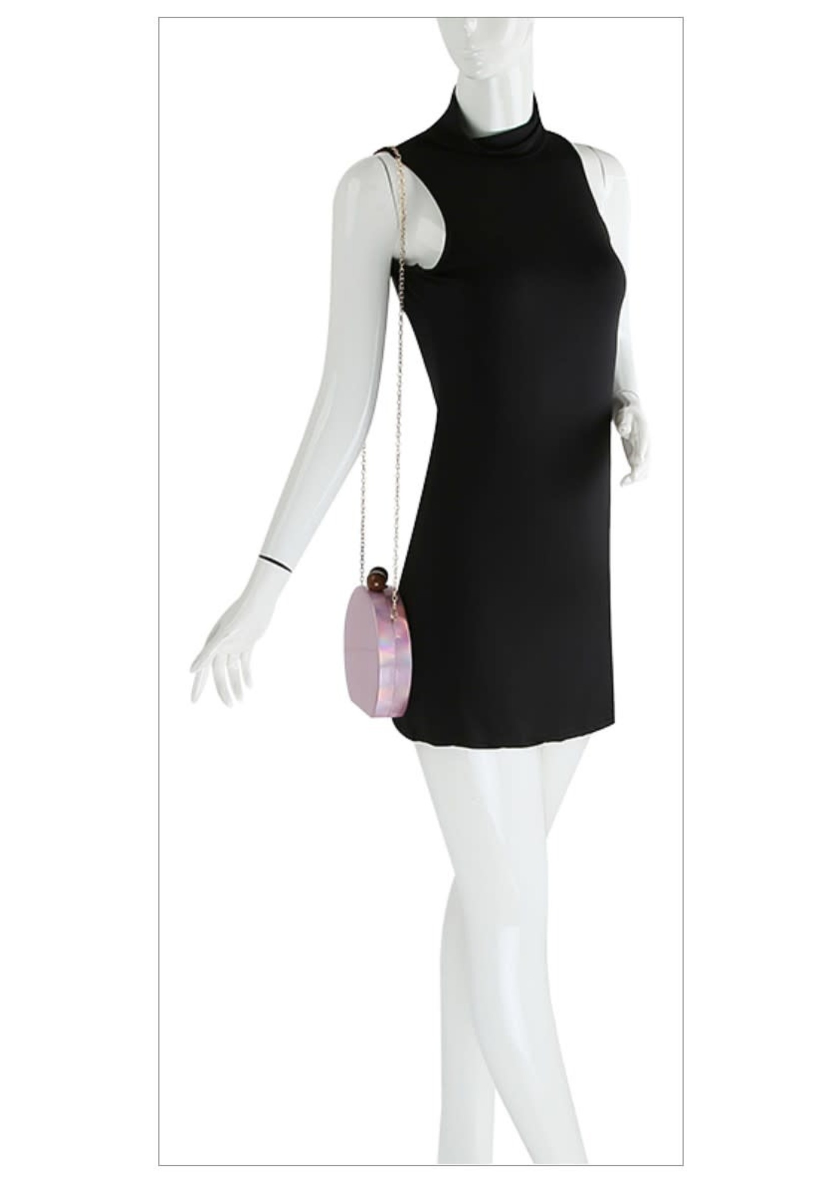 Patent Iridescent Petite Clutch Bag