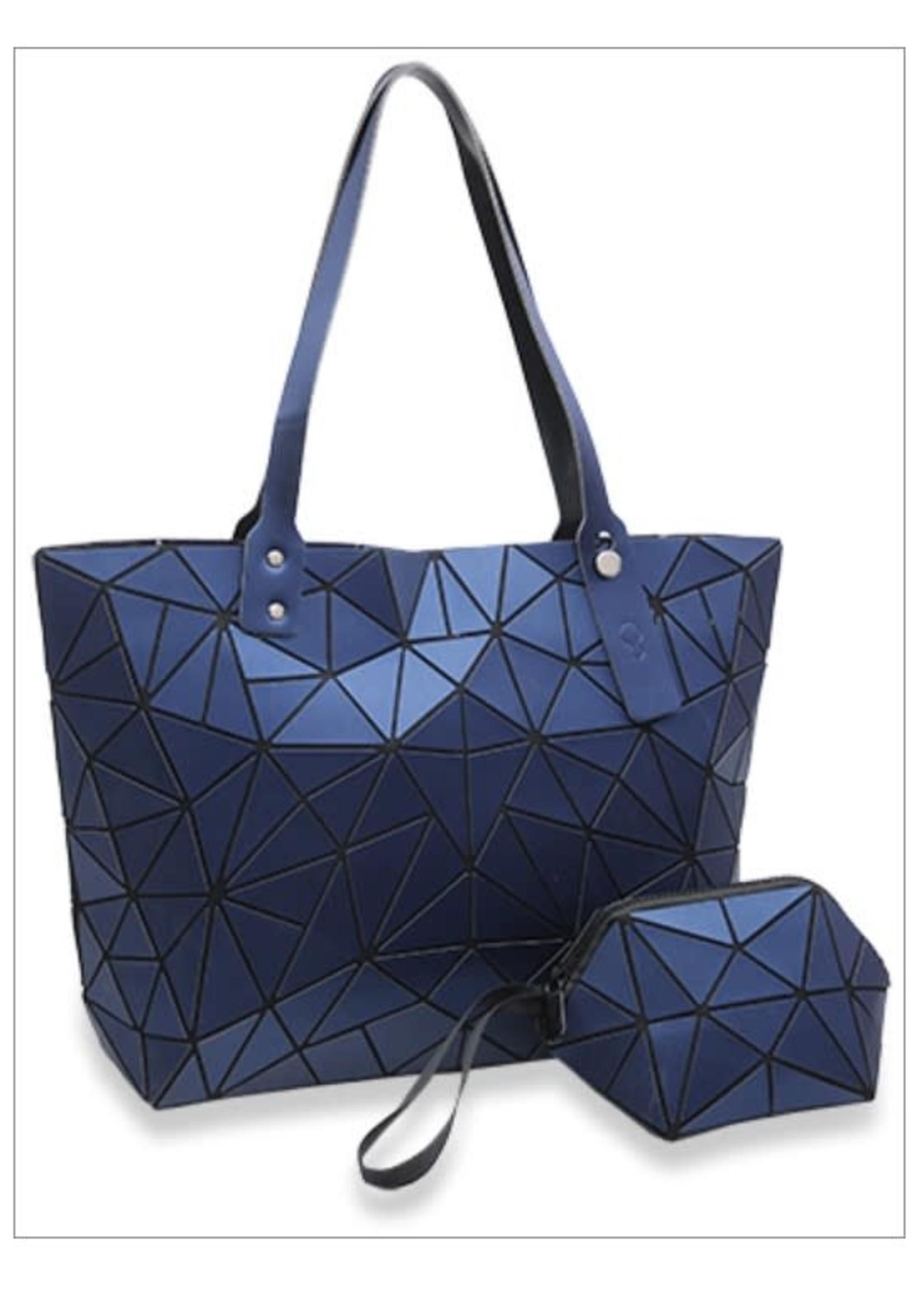 KDX Matte Prism Tote Handbag Set