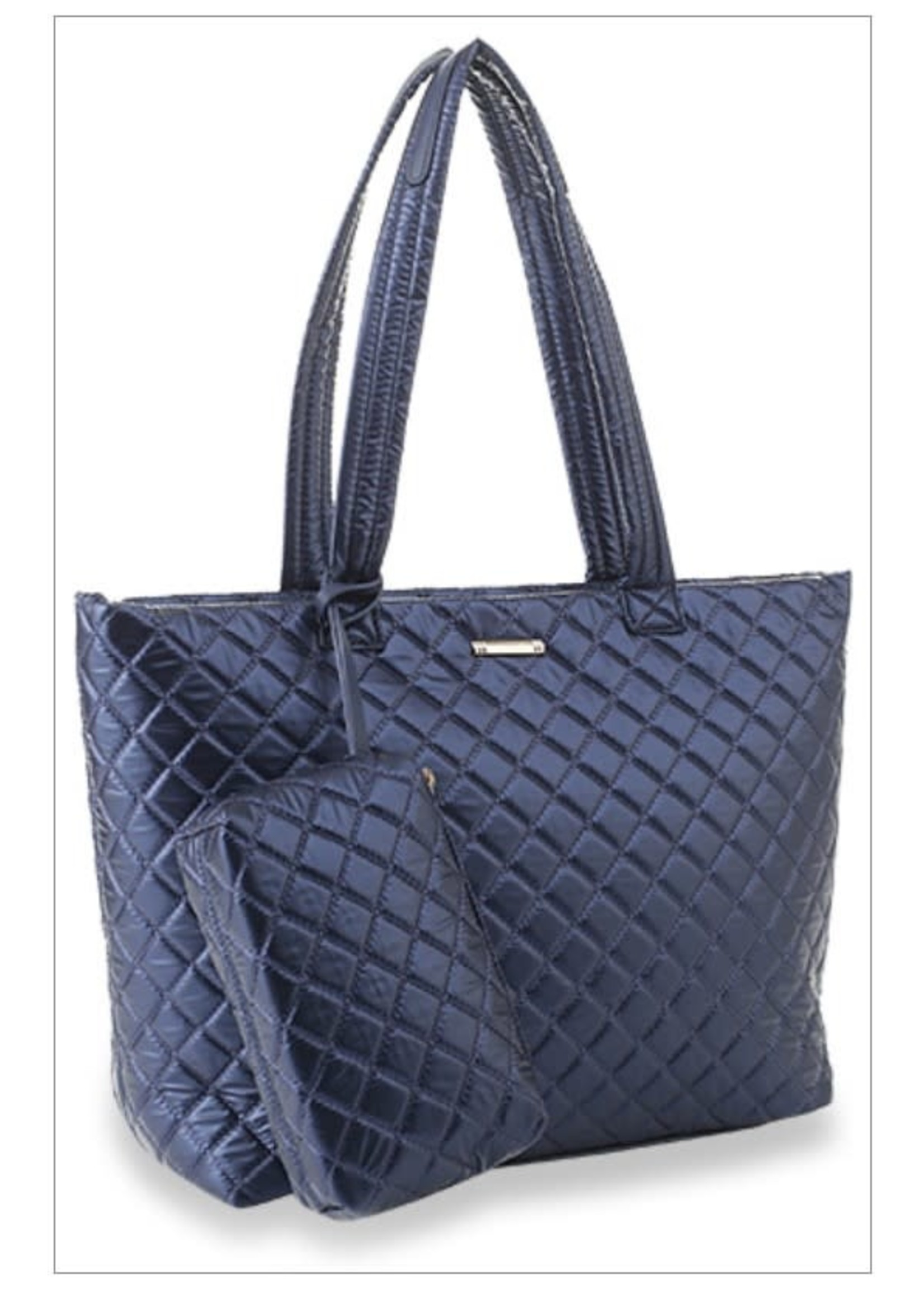 KDX Shimmer Quilted Tote 2pc Set