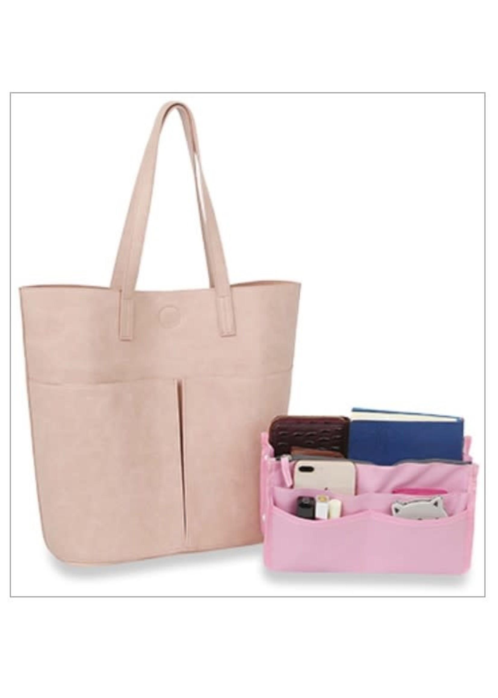 KDX Oversized Organizer Tote Handbag Set