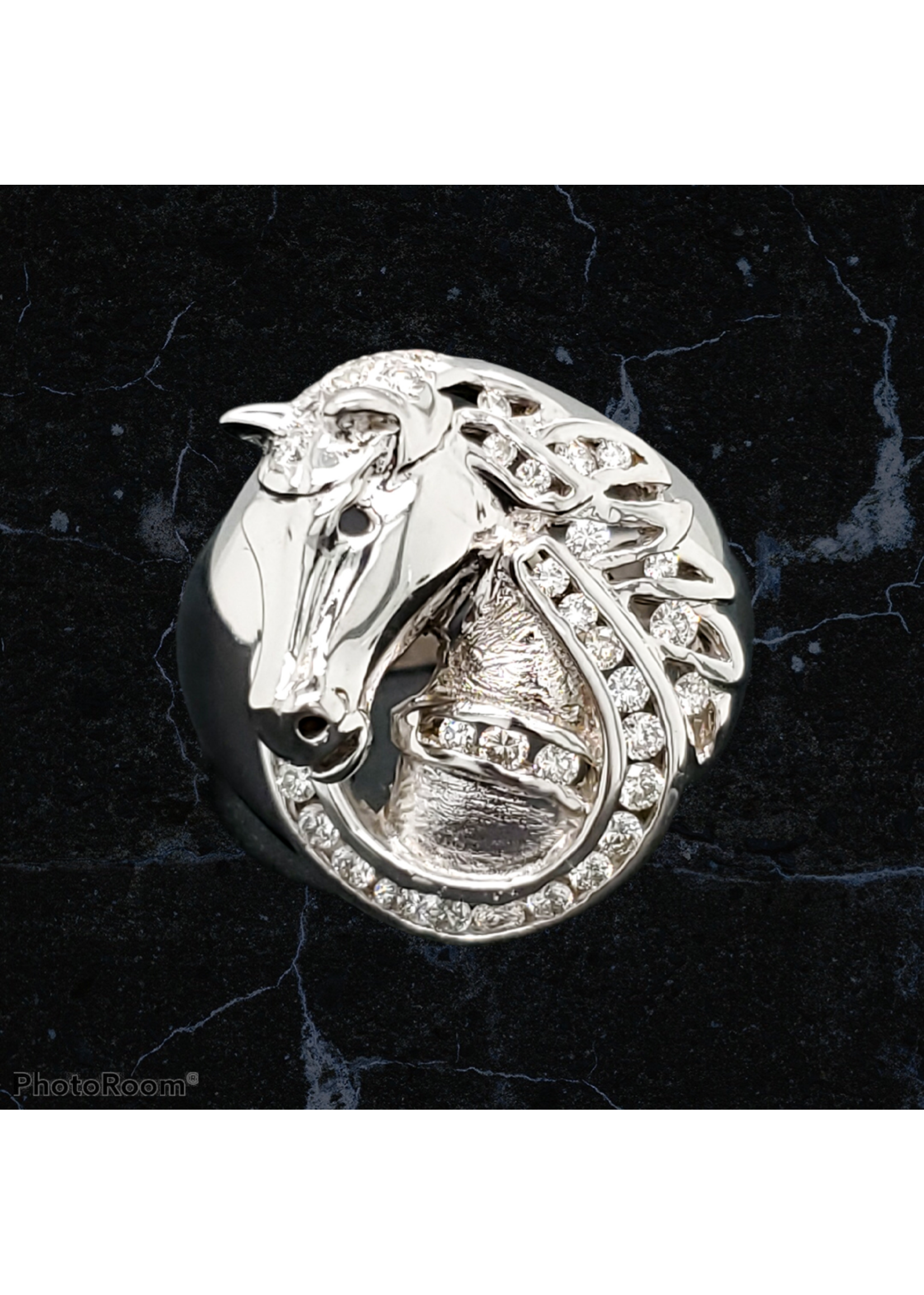 KDesign Studio 18kt White Gold Horse Ring by Goldsmith Hang Lau