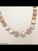 Mariana Mariana Large Mix Pearl Necklace Rose Gold