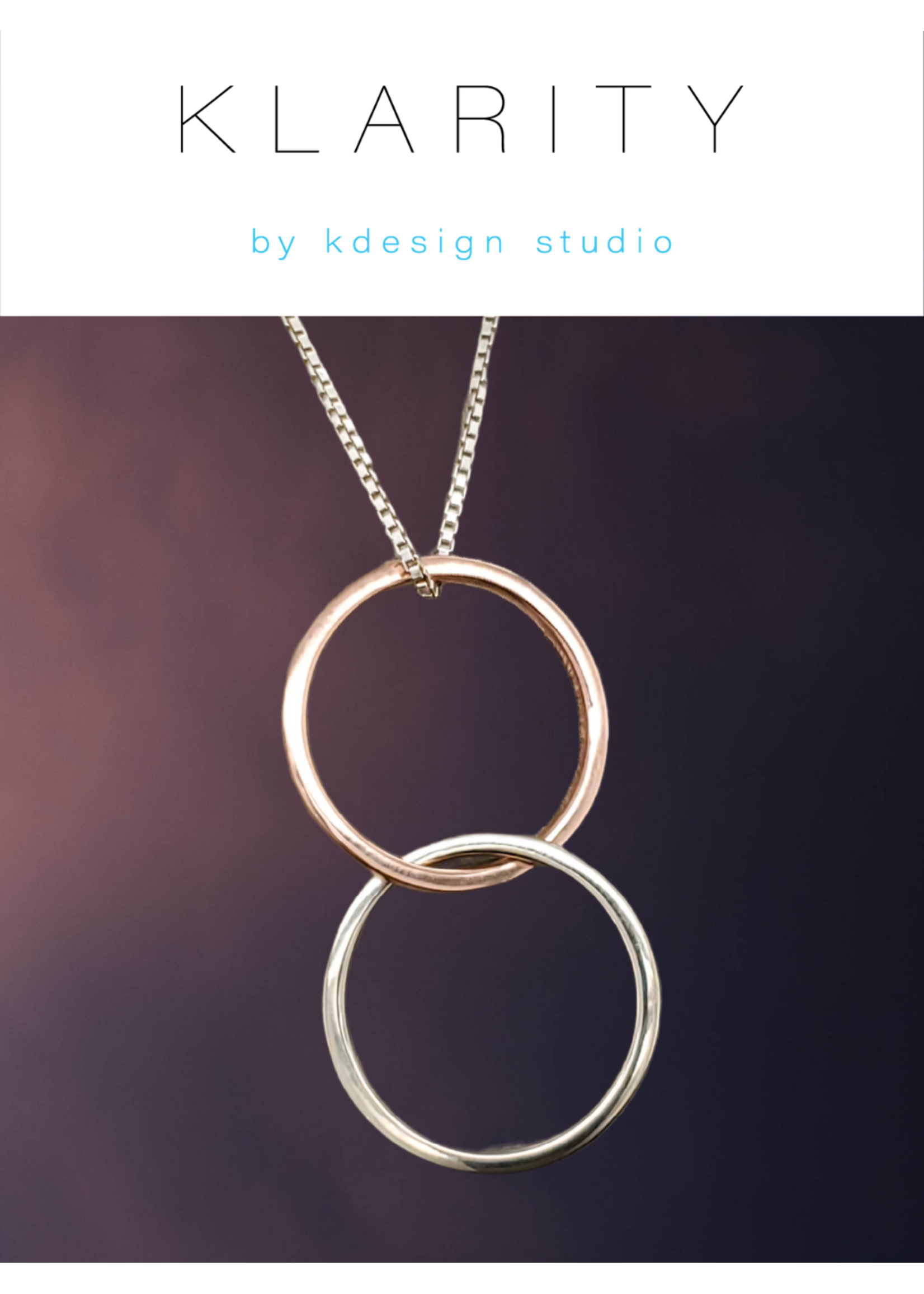 KDesign Studio Klarity By KDesign Double Pendant 10kt Two-Tone Gold