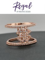 KDesign Regal Collection Regal Rose Gp Ring Sz 8