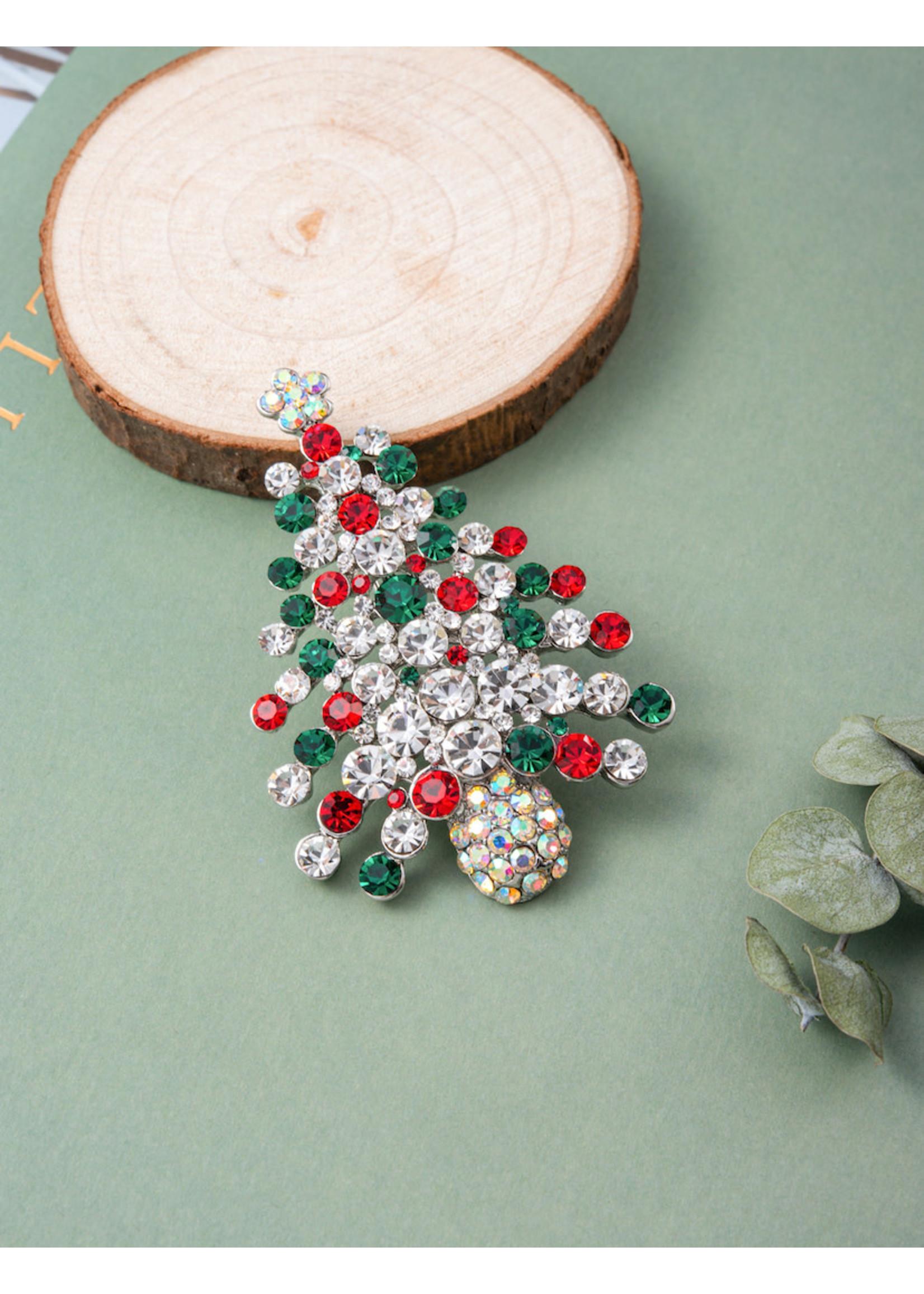 Christmas Swarovski Brooch