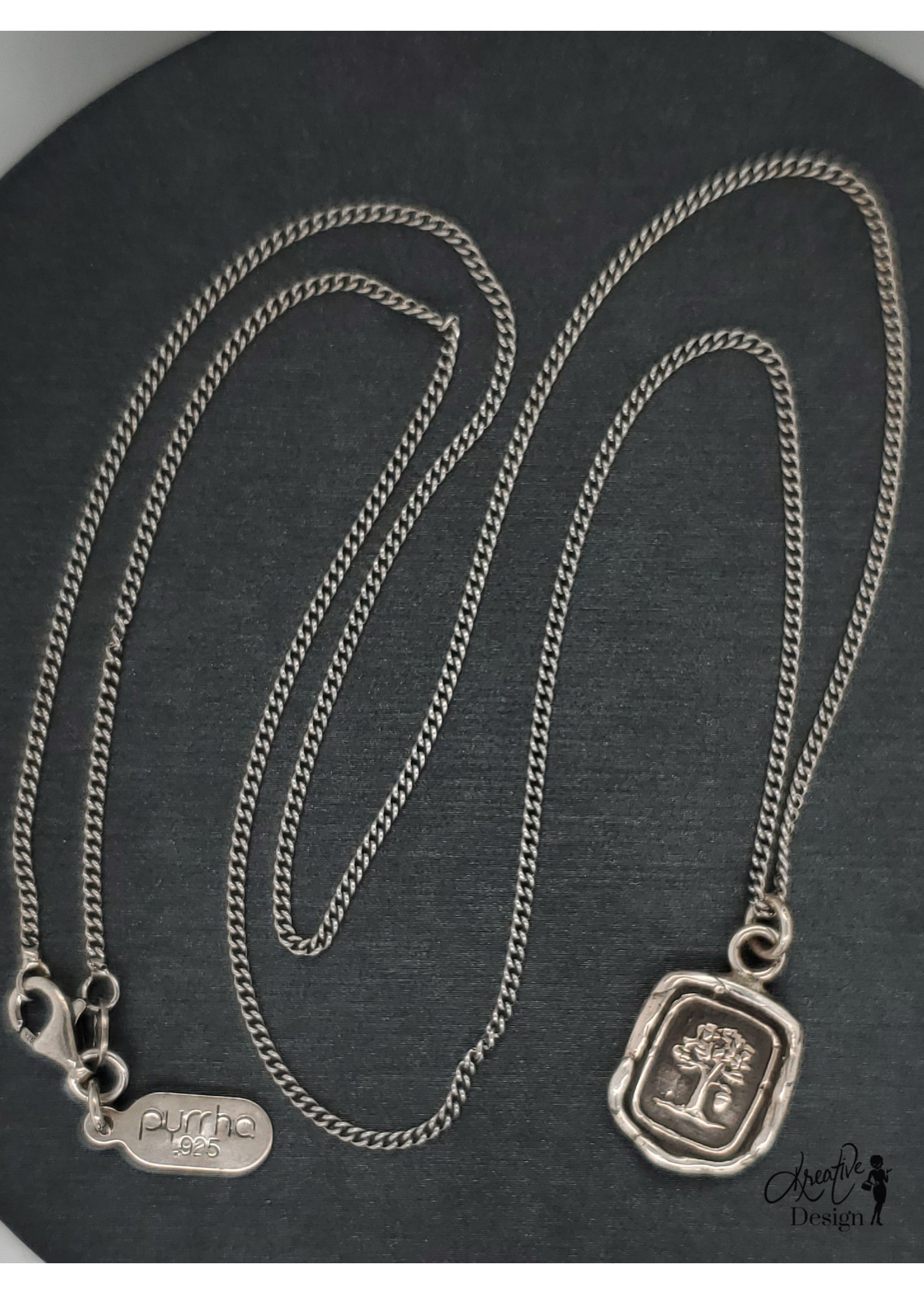 """Pyrrha Potential For Greatness, Sterling 22"""" Fine Curb Chain"""