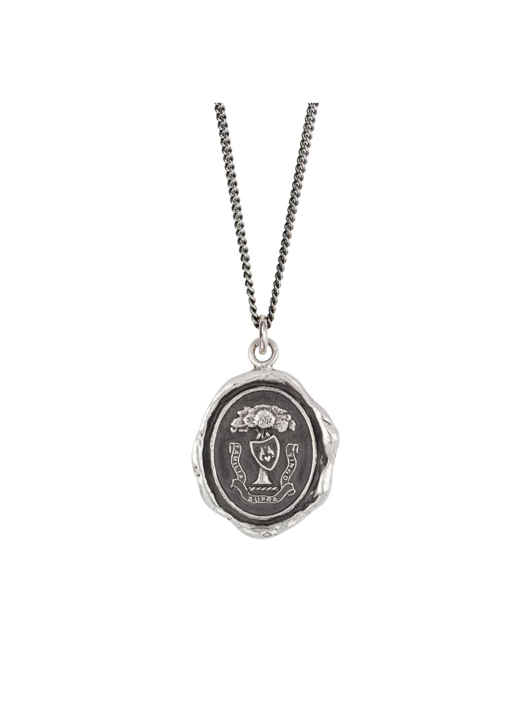 """Pyrrha Family Above All, Sterling 26"""" Fine Curb Chain"""