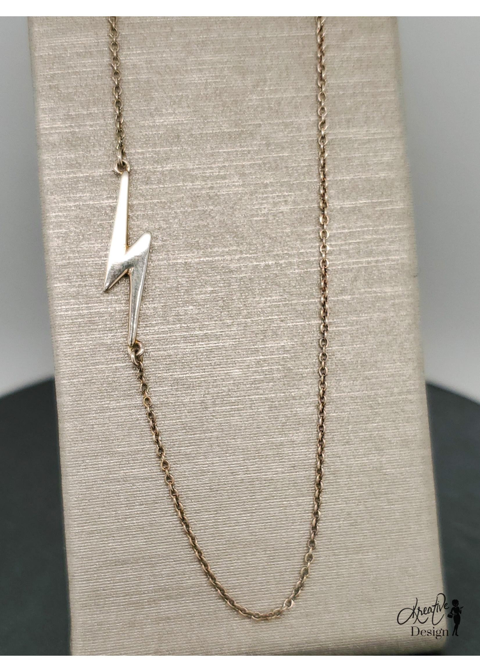KDesign Regal Collection Regal Asymmetrical Lightning Necklace