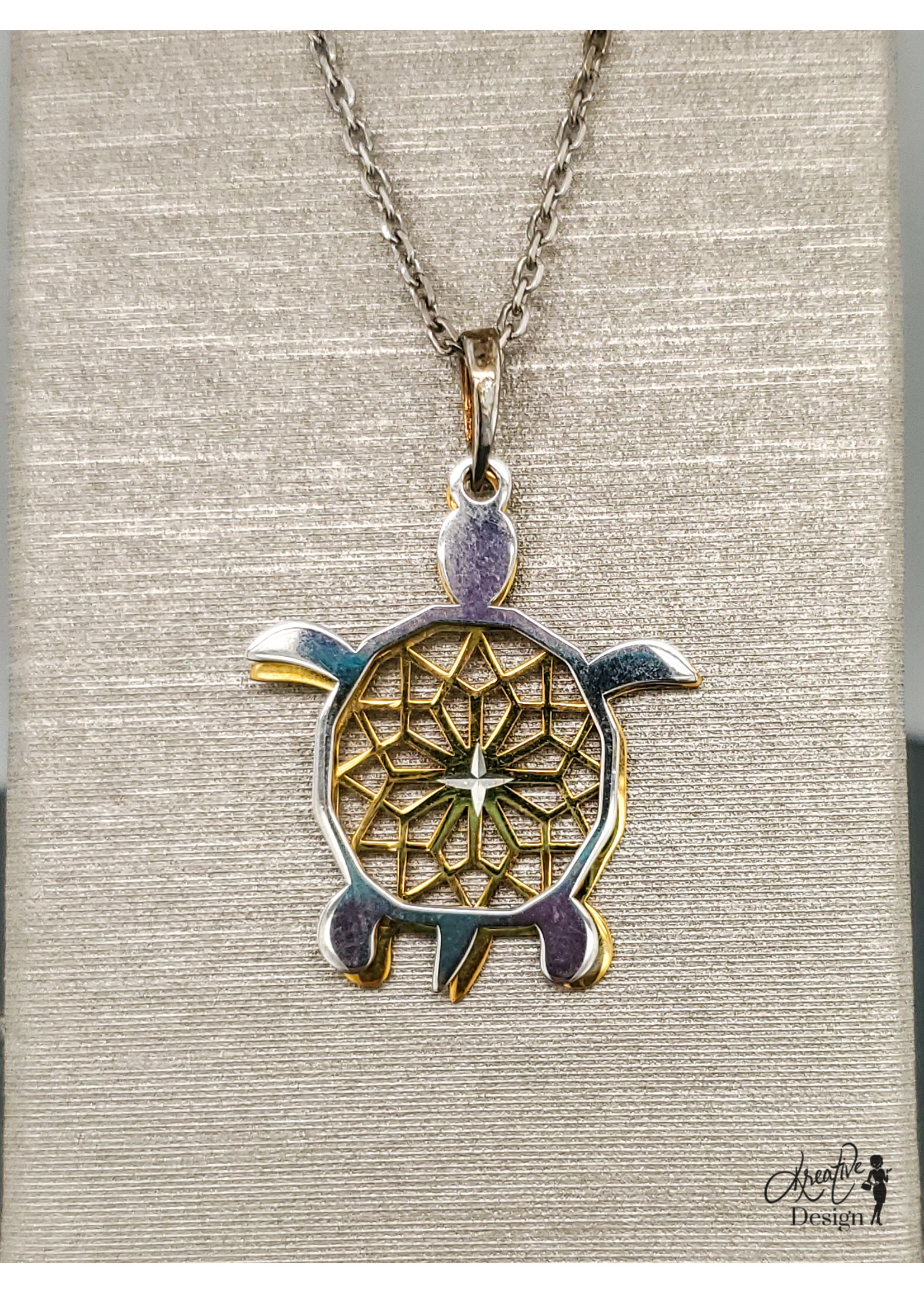 KDesign Regal Collection Regal Two-tone Turtle Necklace