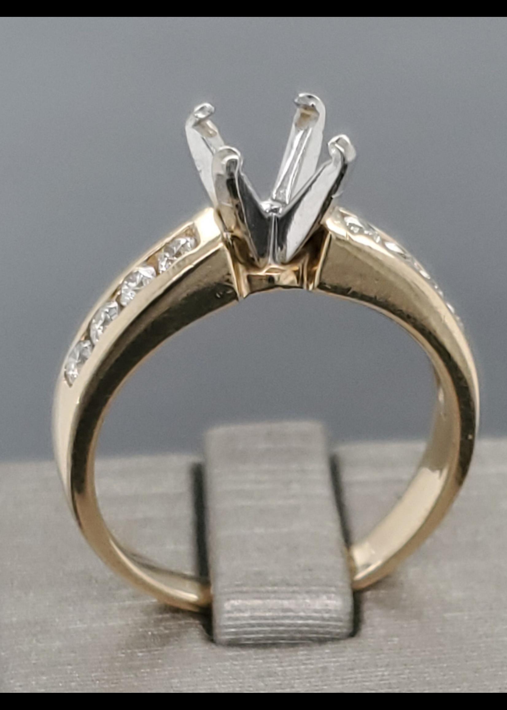 Vintage Jewellery Vintage 14k Solitaire Mount only | Sz 7 2.7mm