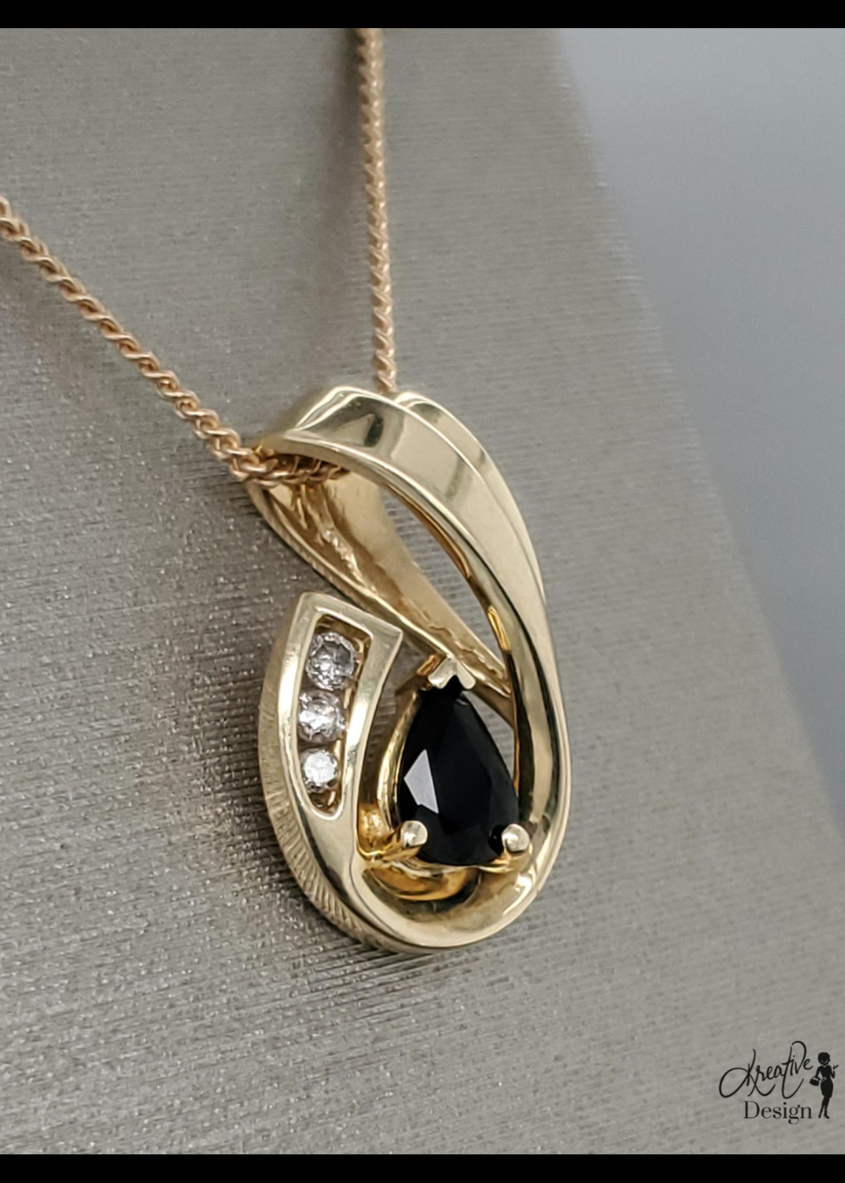 Vintage Jewellery Vintage 14k Drop Pendant | 21mmx12mm