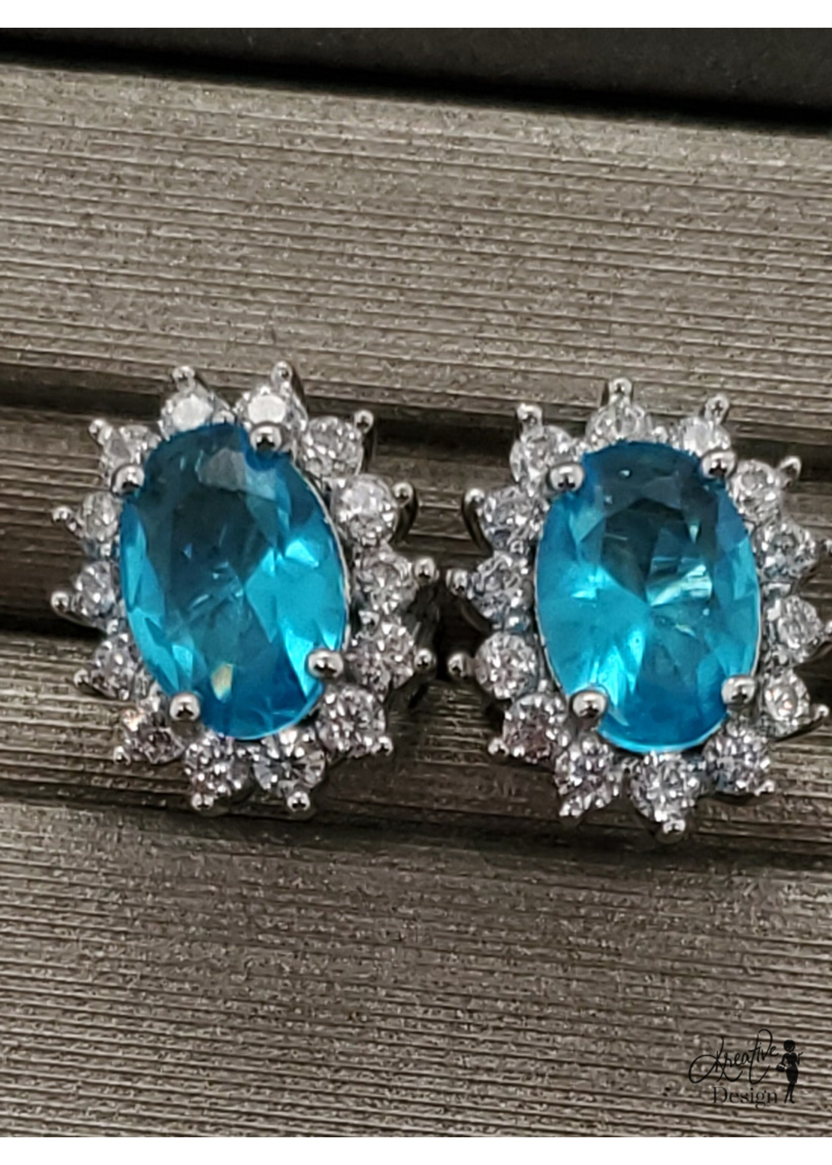 KDesign Regal Collection Regal Cz Cluster Earrings