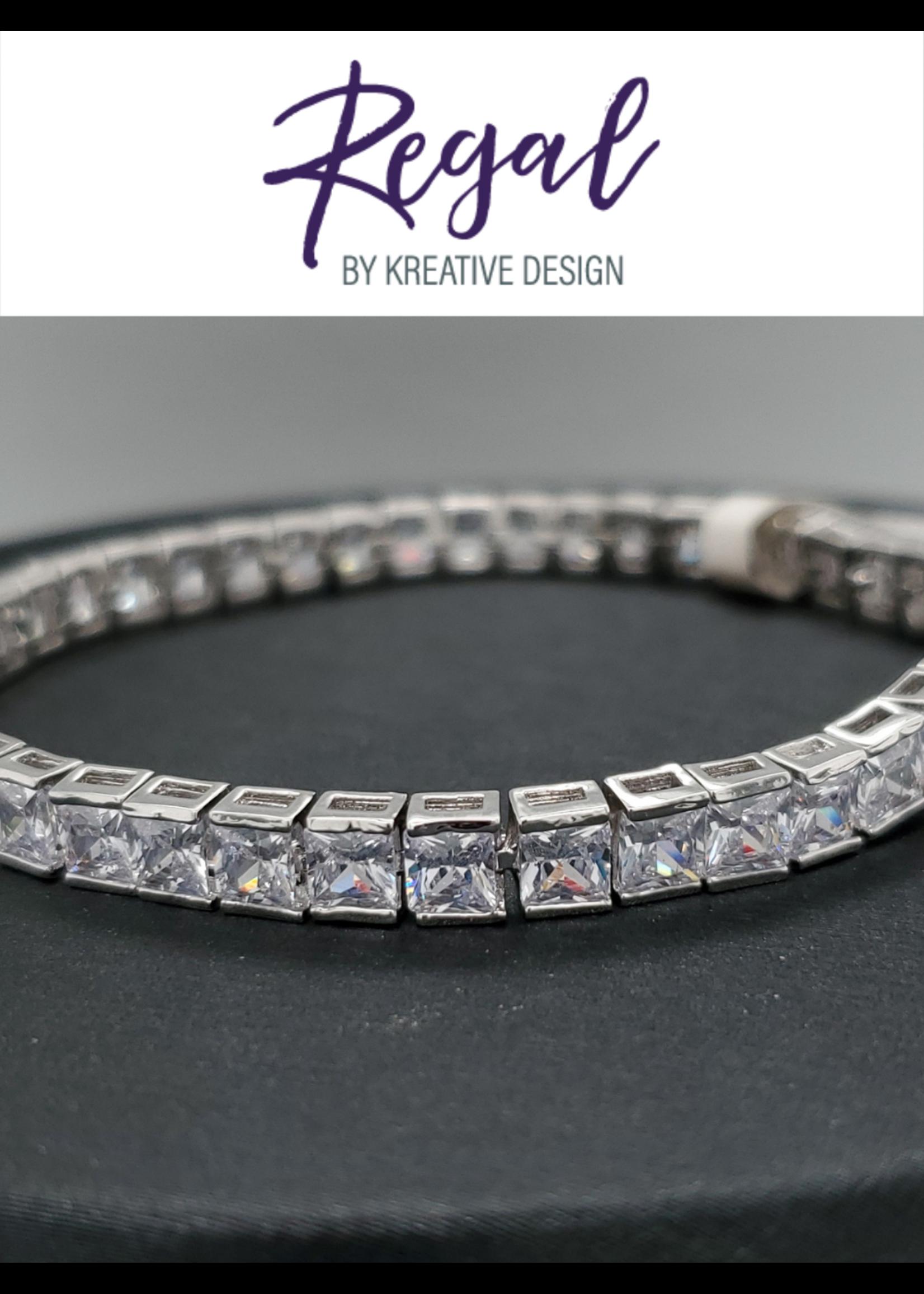 KDesign Regal Collection Regal Cz Princess Tennis Bracelet