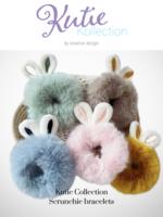 Kids' Plush Hair Scrunchie/ Bracelet With Rabbit Ears