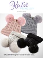 Kids' Double Pom Pom Knitted Hat
