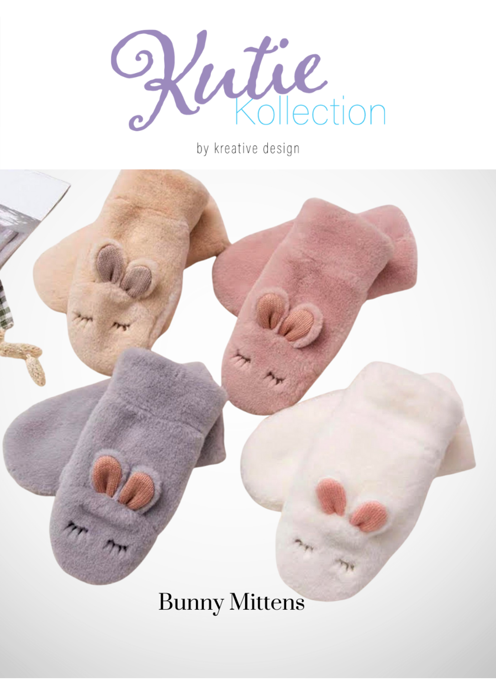 Kids' Sleeping Bunny Winter Gloves